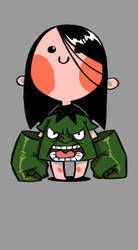 Girl Hulk by milkyliu