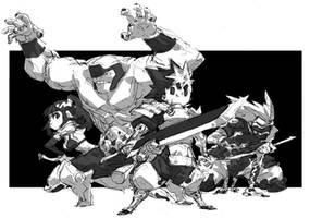 Four warriors by milkyliu