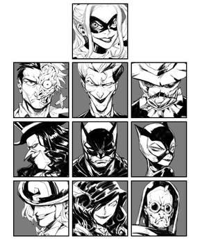Batman with his friends