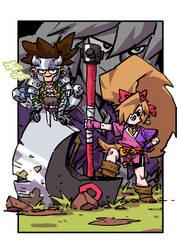 JIRAIYA and his friends by milkyliu