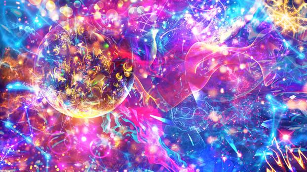 Travel in Space Unite Universal Element Celestial