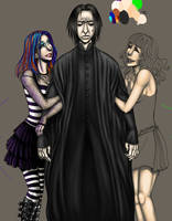 WIP Snape and fangirls by LunaJMS
