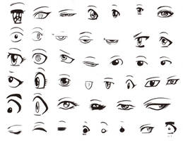 Manga eyes by LunaJMS