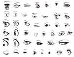 Manga eyes by LunaJMS