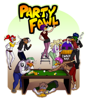 Commission- Party Fowl by LunaJMS