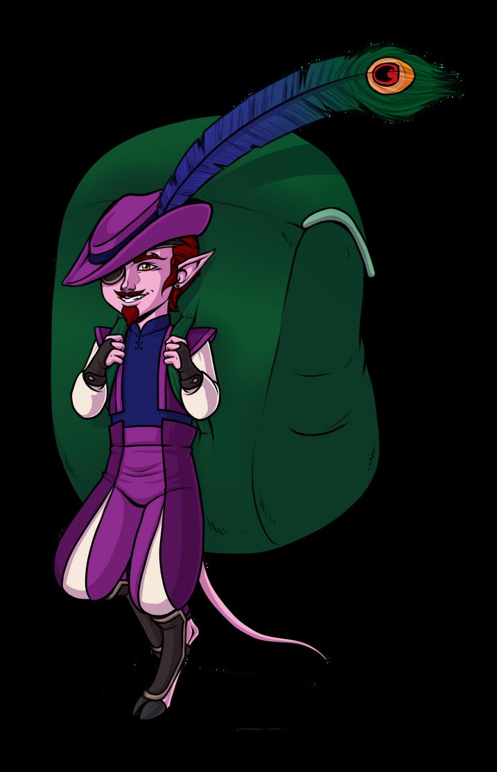 Turen Mordai, the gnome/tiefling merchant by LunaJMS