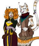 Thistle and Penny WIP by LunaJMS