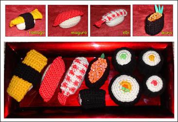 Crochet Sushi by minami63