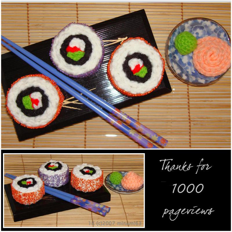 Crochet Sushi 2 by minami63