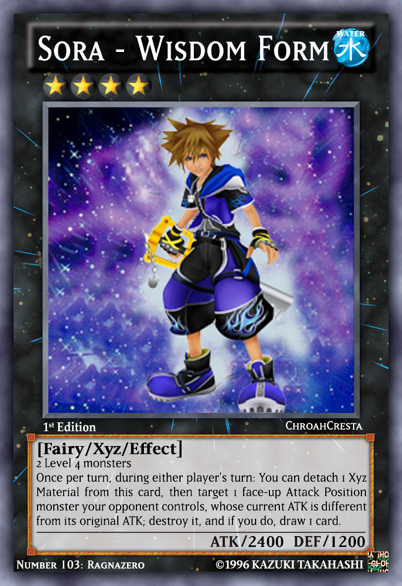 Sora - Wisdom Form (Number 103: Ragnazero) by ChroahCresta on ...