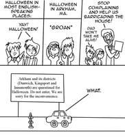 Halloween in Arkham by StrixVanAllen