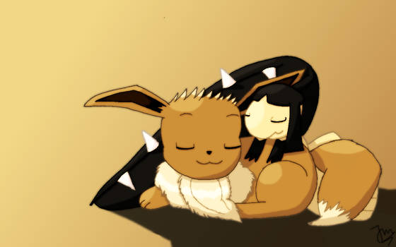 Eevee and Mawile :3