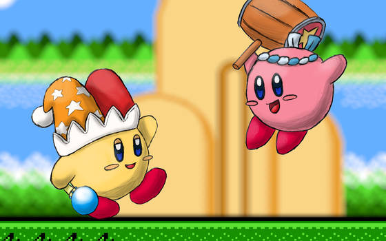 Hammer Kirby and Beam Kirby Wallpaper C: