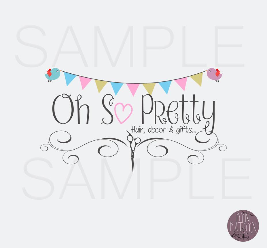Oh So Pretty hair salon Logo by Raine17