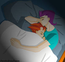 Sleeping Archie and Atlanta by historianGirl
