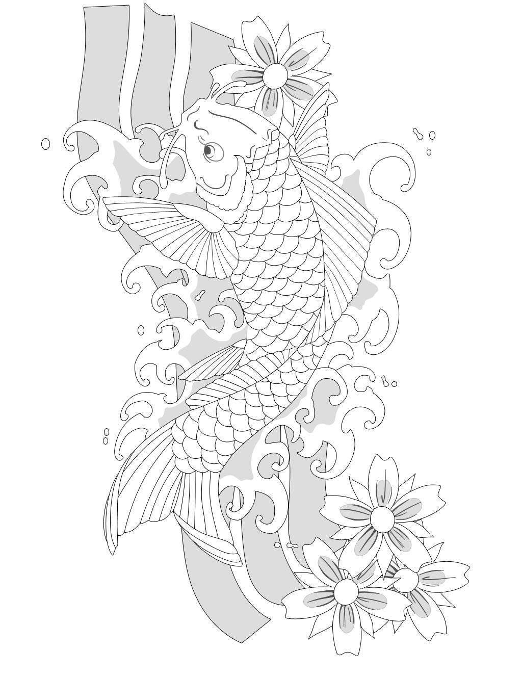 Koi fish by henrique moreira on deviantart for Koi fish outline