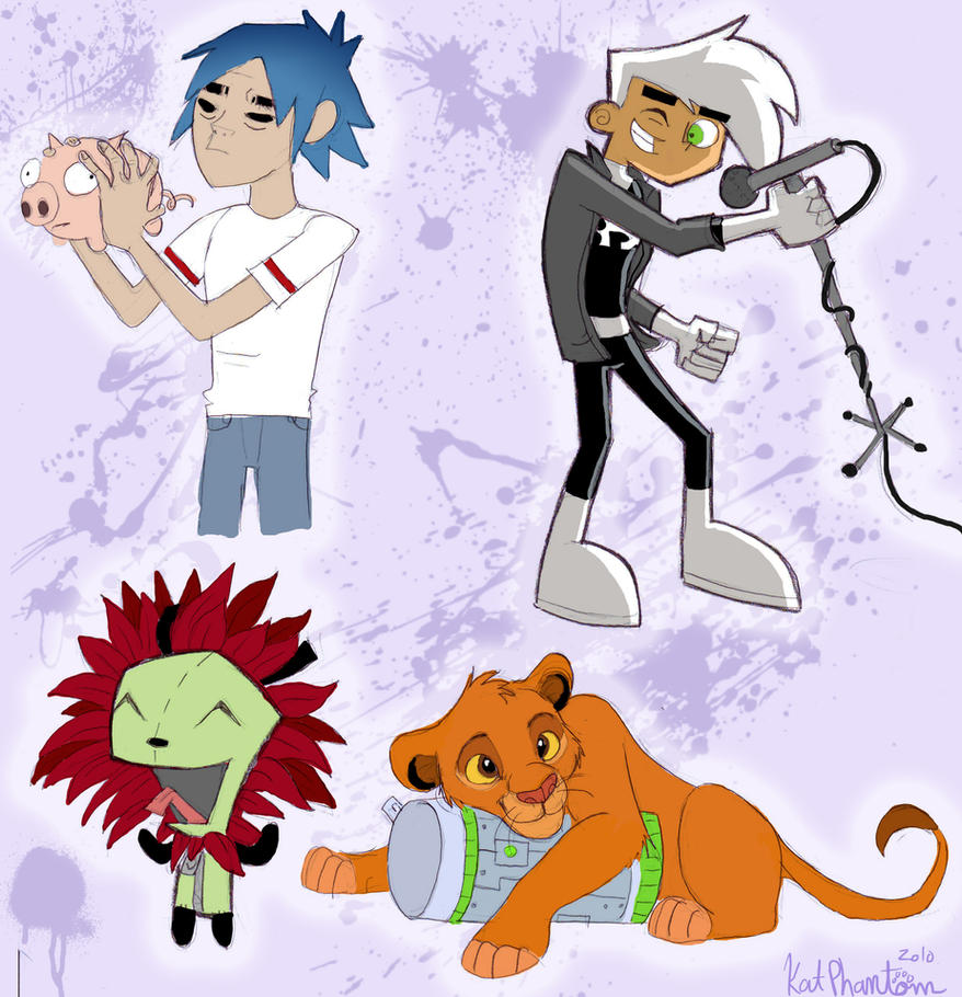 Cartoon Fanart Crossover-ness by Kat-Phantom