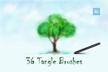 Tangle Brushes for Adobe Illustrator