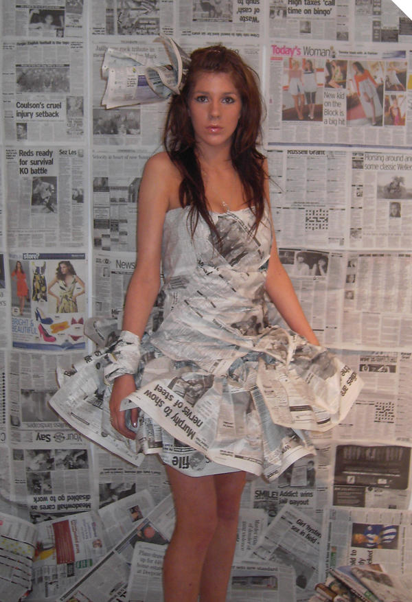 newspaper dress 3 by CharlotteHemingway