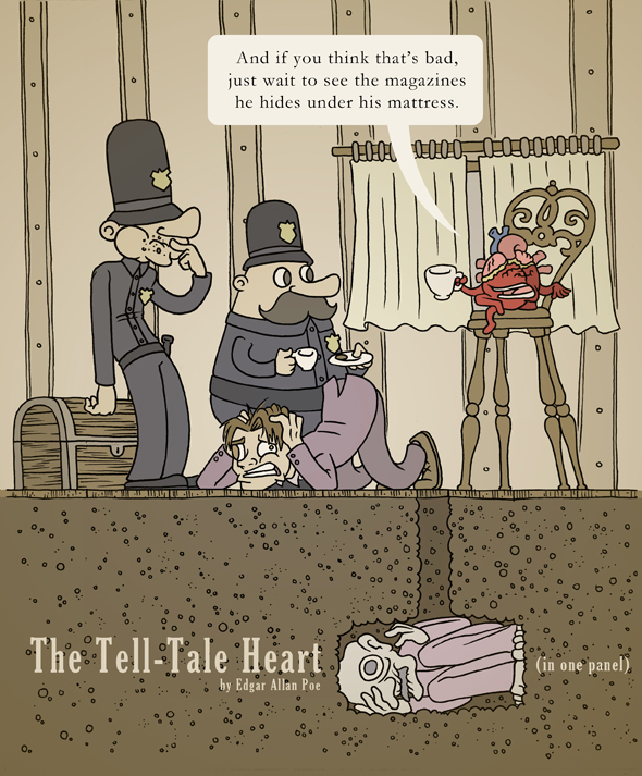 The Tell-Tale heart in one panel by mapacheanepicstory on DeviantArt