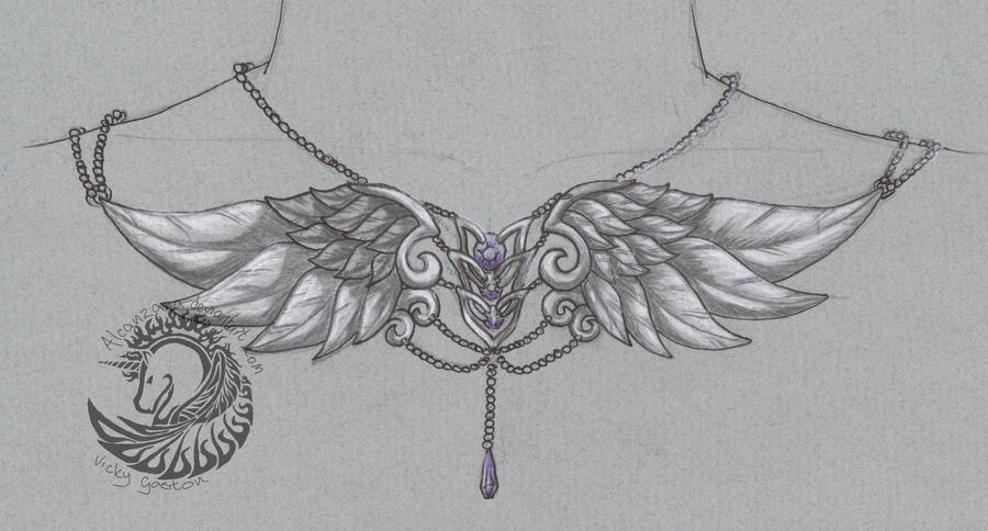 Wings Necklace by Alcanzana