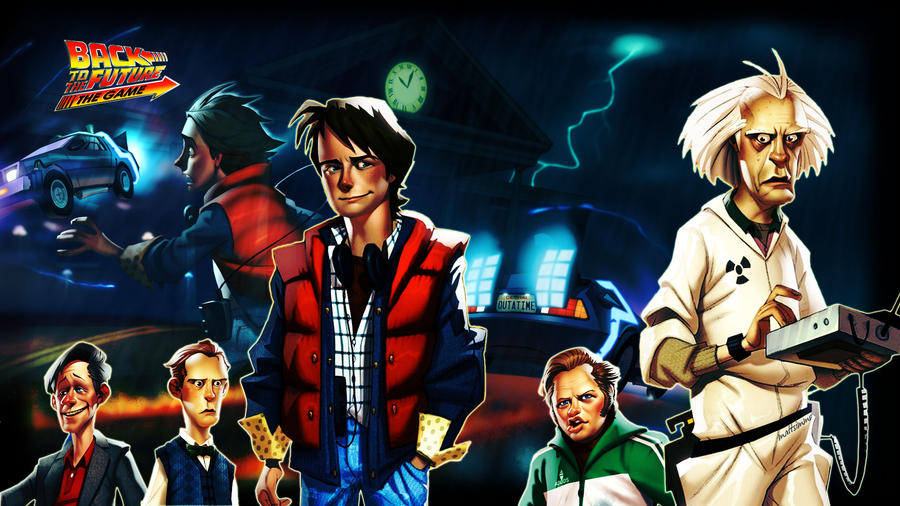 Back to the Future game HD Wallpaper ,1080p Wallpaper Back to the Future game