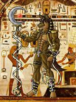 Derris Anubis -art trade- by Wolfan-foxD