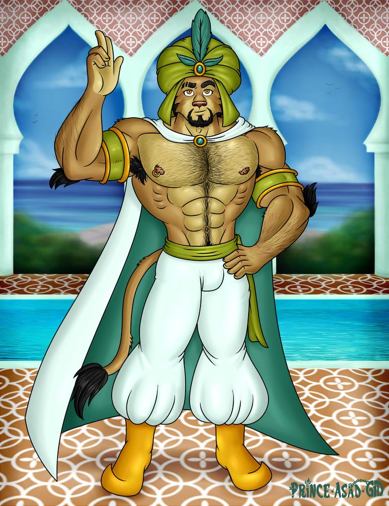 [NEW FURSONA for new account] Prince Asad Makin by Wolfan-foxD
