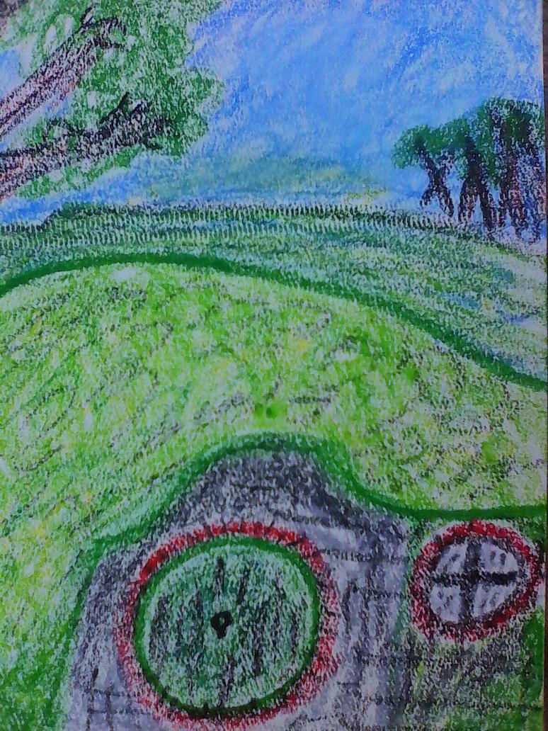 A hobbit hole by mysticfantsy