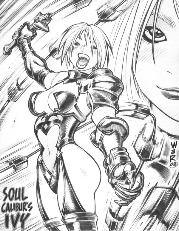 Soul Calibur's IVY sketch by AdamWarren