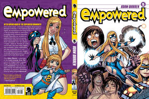 EMPOWERED 5 front + back cover by AdamWarren