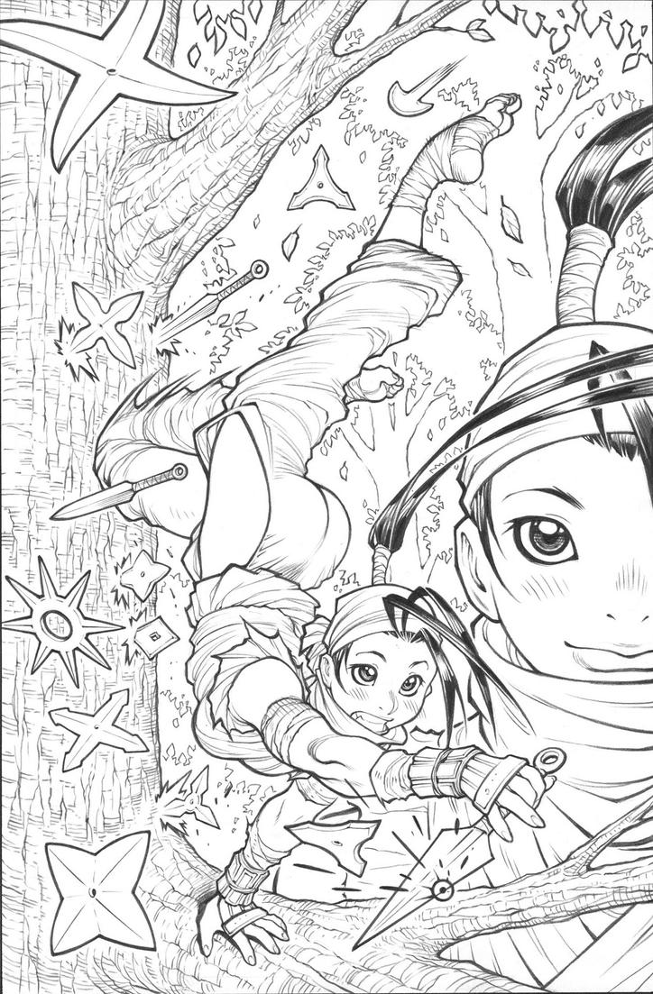 IBUKI issue3 alt-cover pencils by AdamWarren