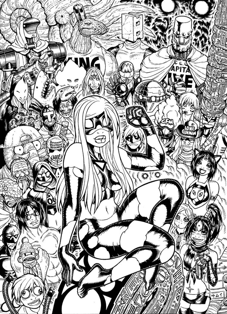 EMPOWERED DELUXE cover inks by AdamWarren