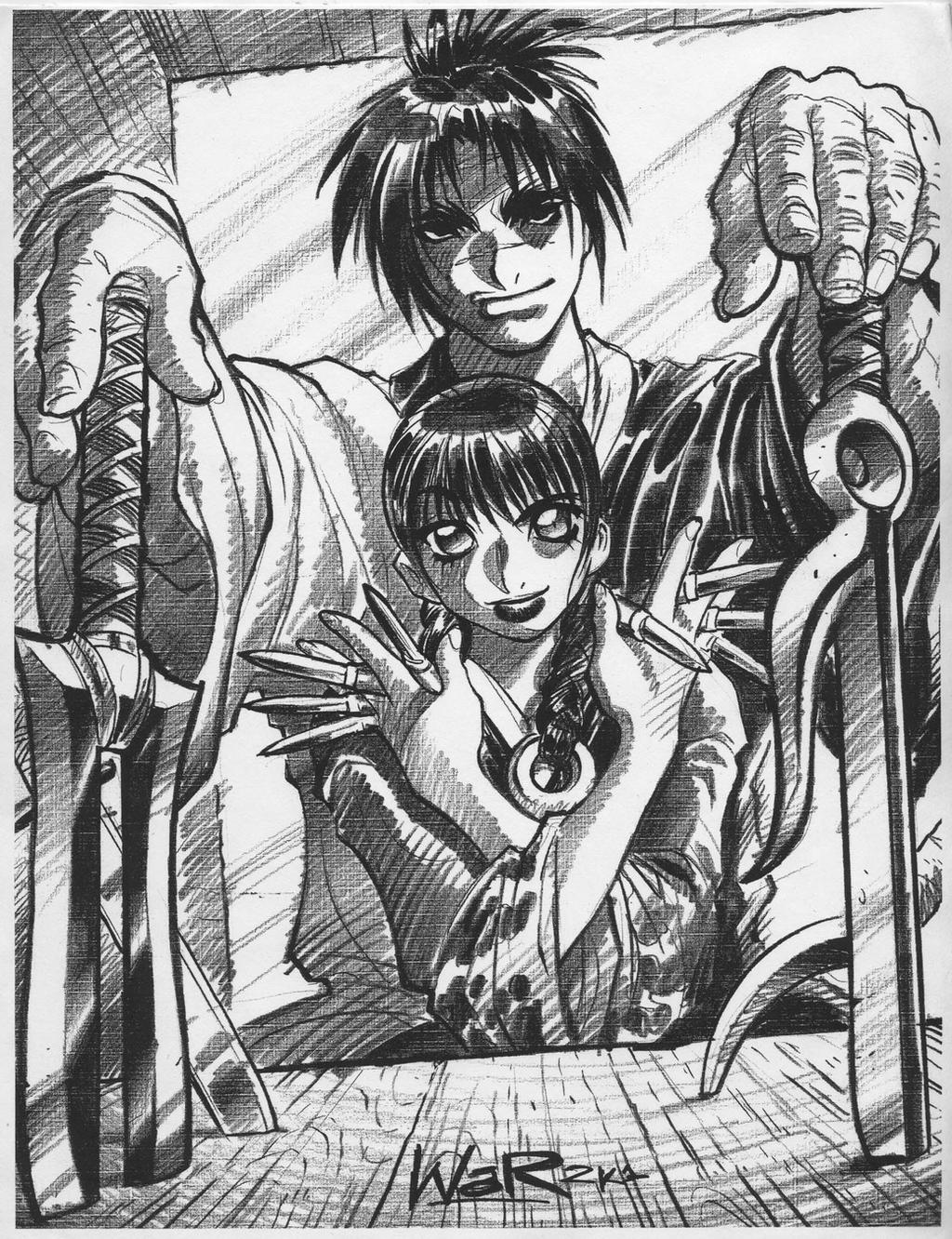 BLADE OF THE IMMORTAL sketch, circa 2001 by AdamWarren