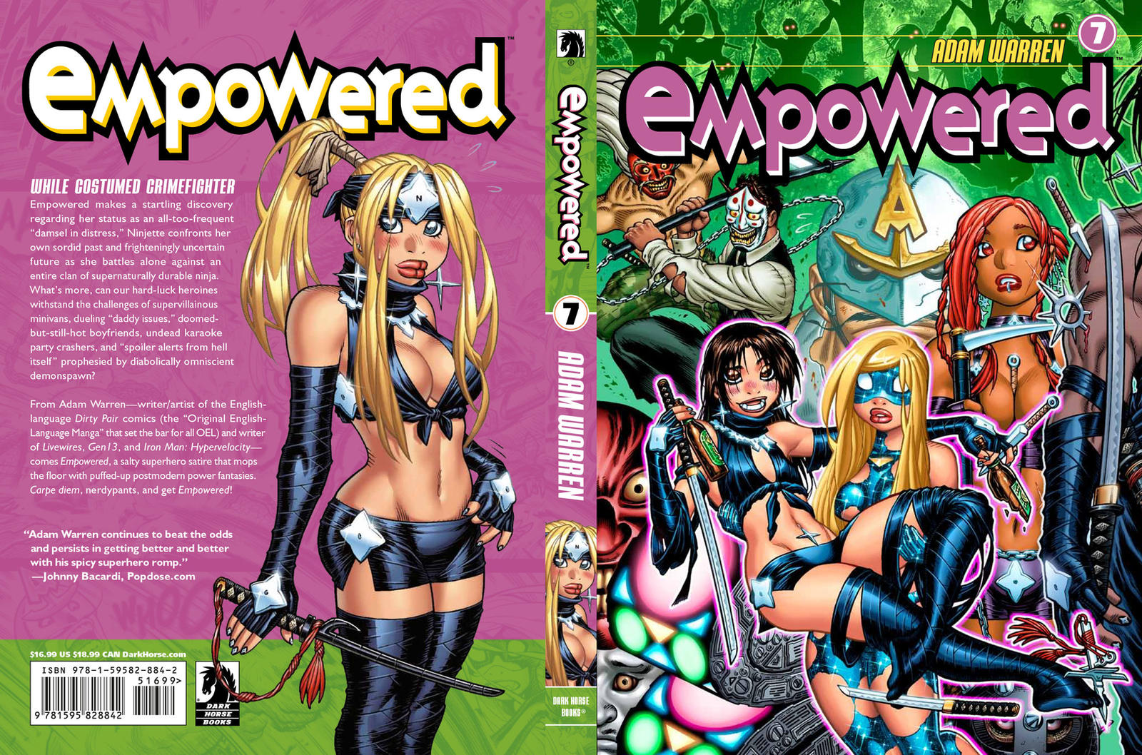 EMPOWERED 7's front + back covers by AdamWarren