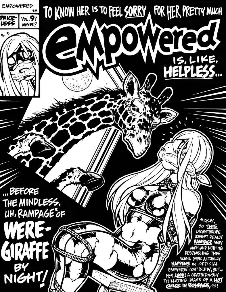 EMPOWERED's faux WERE-GIRAFFE BY NIGHT cover by AdamWarren