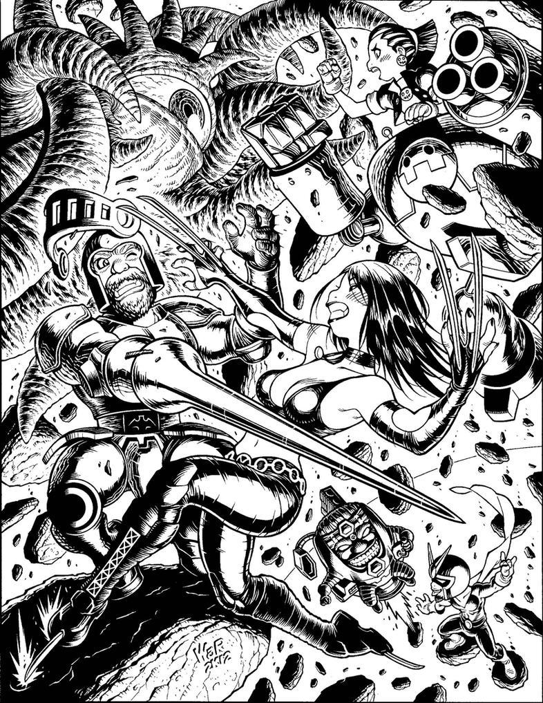 Inks for Udon's MARVEL VS. CAPCOM illo by AdamWarren