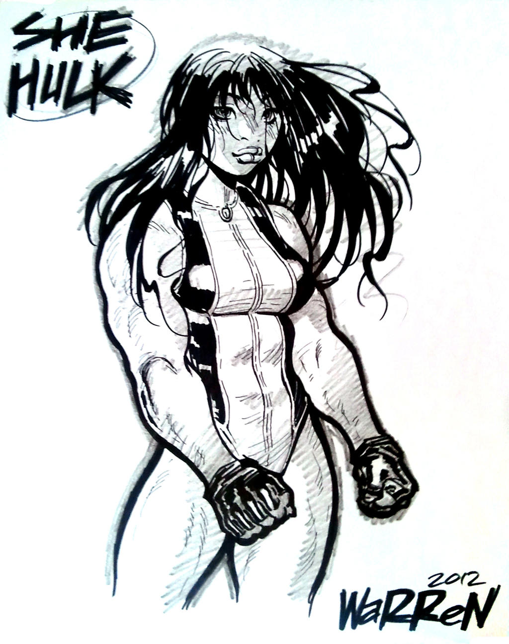 SHE-HULK sketch from Fan Expo by AdamWarren