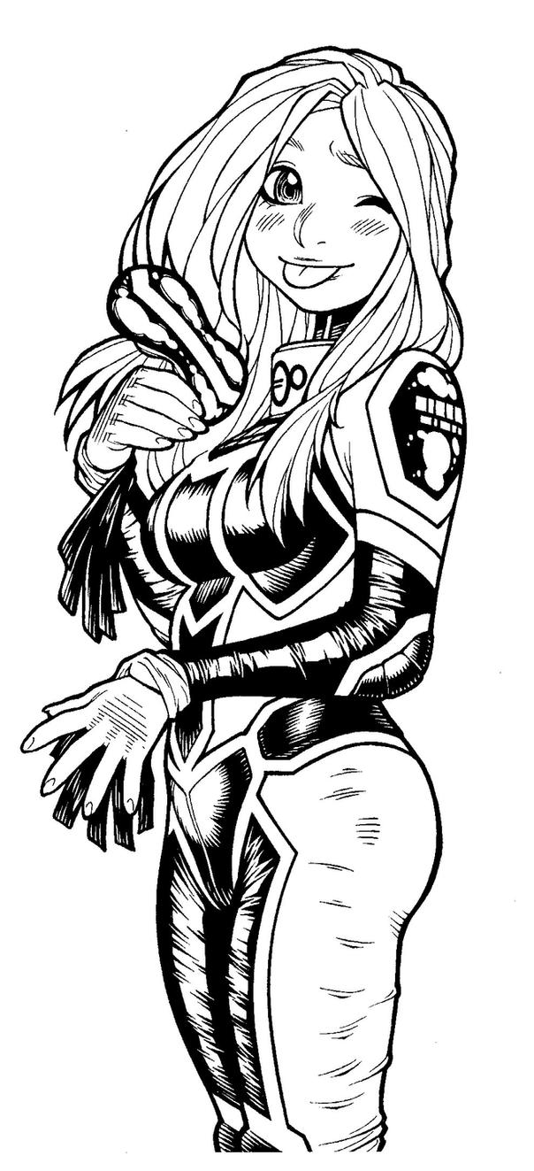 EMPOWERED v.8's back-cover Mindf**k illo, inked by AdamWarren