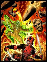DEADPOOL #6 variant cover by AdamWarren