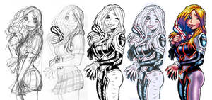 EMPOWERED 8's Mindf**k back-cover process montage