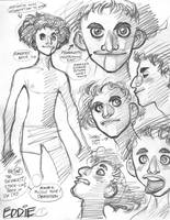 Rough character designs for SSX's Eddie (1 of 5) by AdamWarren