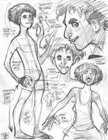 Rough character designs for SSX's Eddie (2 of 5) by AdamWarren