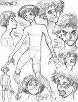 Rough character designs for SSX's Eddie (3 of 5) by AdamWarren