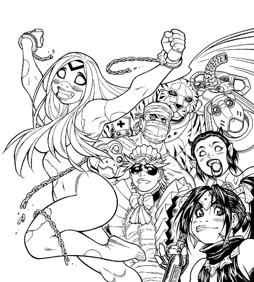 Inks for EMPOWERED UNCHAINED cover artwork by AdamWarren