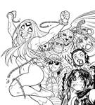 Inks for EMPOWERED UNCHAINED cover artwork