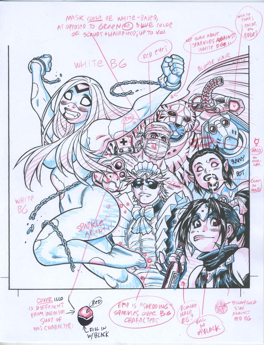 Color guide for EMPOWERED UNCHAINED cover by AdamWarren
