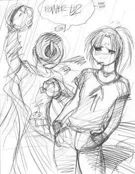 Rough for APPLEGEEKS pin-up