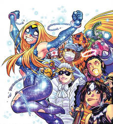 Color art for EMPOWERED UNCHAINED cover by AdamWarren