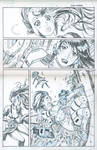 Pencils for Marvel DOMINO/ SCARLET WITCH page